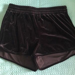 Target Black Velvet Shorts Size M